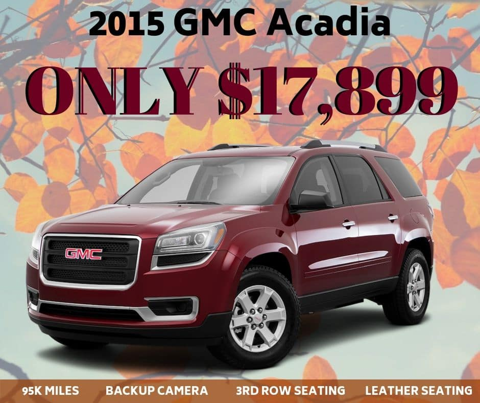 Pre-Owned 2015 GMC Acadia SLT-1 FWD 4D Sport Utility