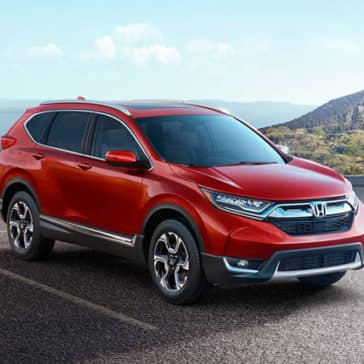 Red 2018 Honda CR-V parked