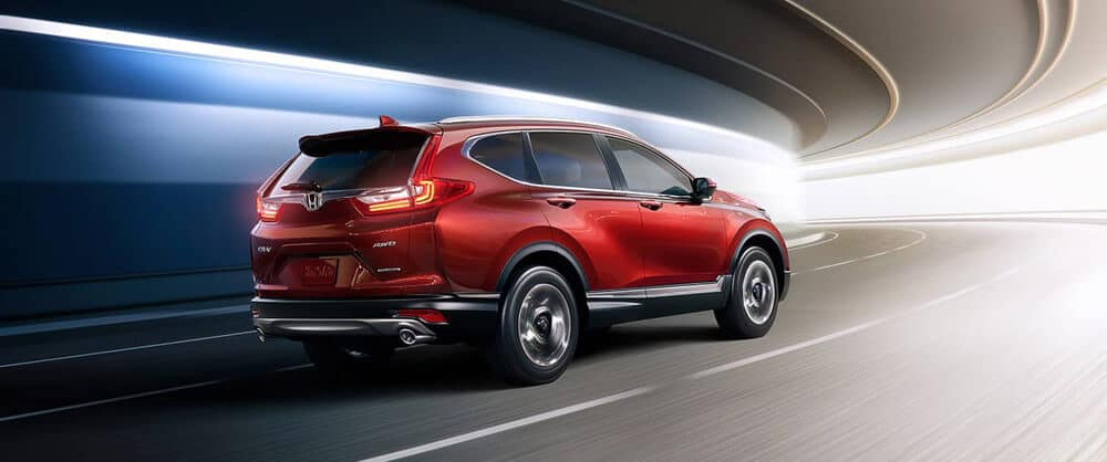 Red 2018 Honda CR-V driving