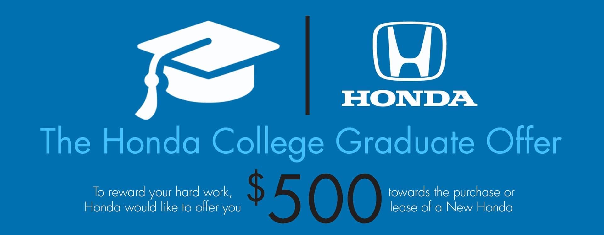 Honda collge Grad banner
