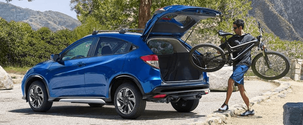 Honda HR-V configurations with bike on roof rack