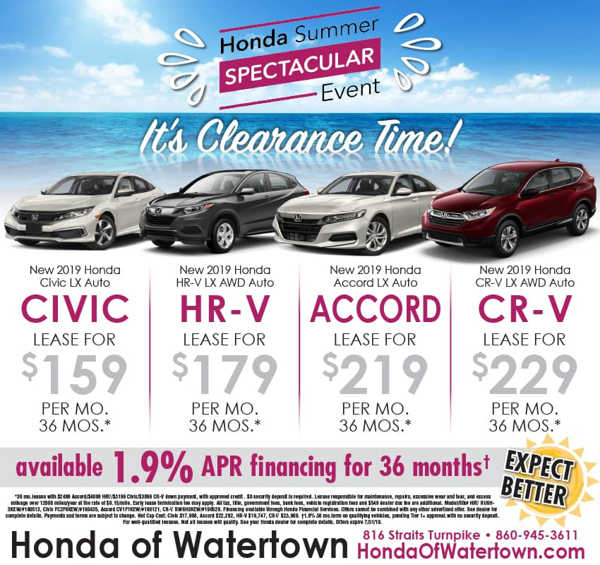 Used Car Ad Honda Of Watertown Serving Waterbury