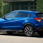 2020 Honda HR-V blue SUV on street