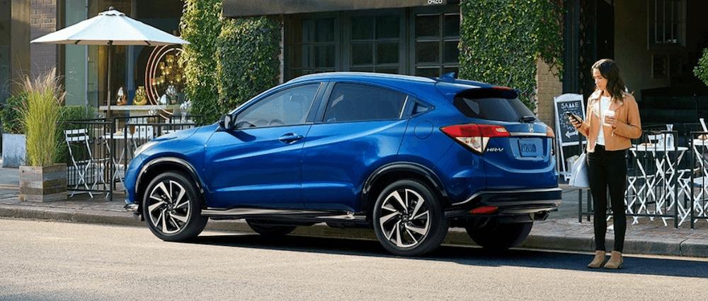 2020 Honda HR-V blue SUV on street