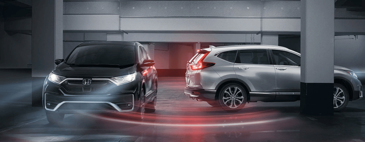 2020 Honda CR-V showing in blue and grey
