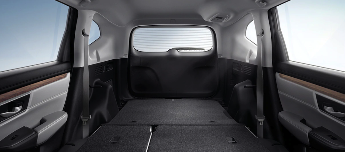2020 Honda CR-V interior cargo space with backseat down