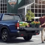 2020 Honda Ridgeline cargo space with flowers