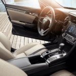 2020 Honda Civic dashboard and driver's seat