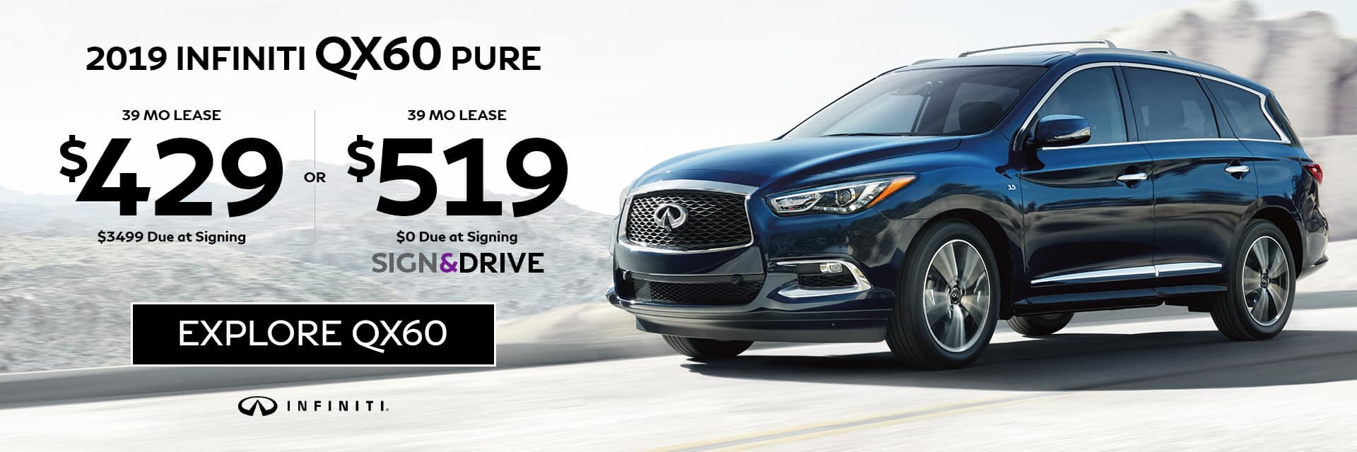 2019 INFINITI QX60 Special Offer