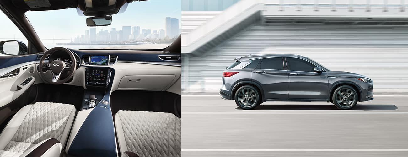 QX50 interior and exterior