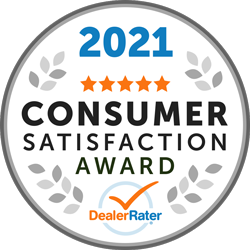 2021 Dealer Rater Consumer Satisfaction Award
