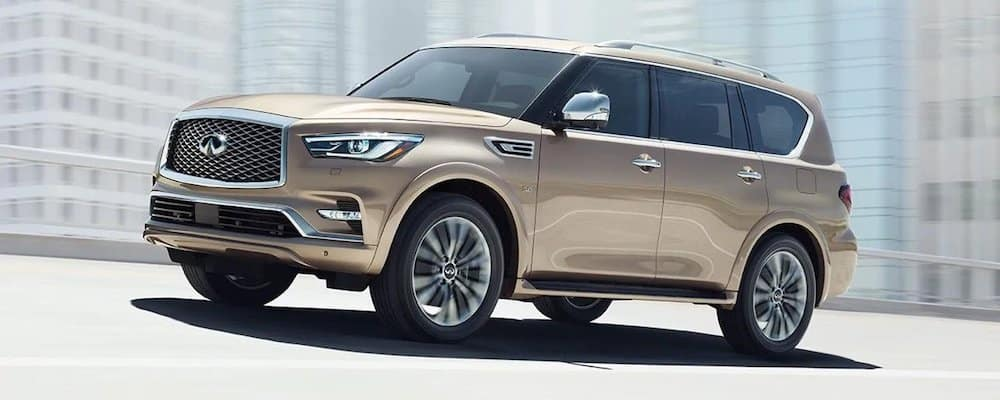 2019 INFINITI QX80 Driving on Highway