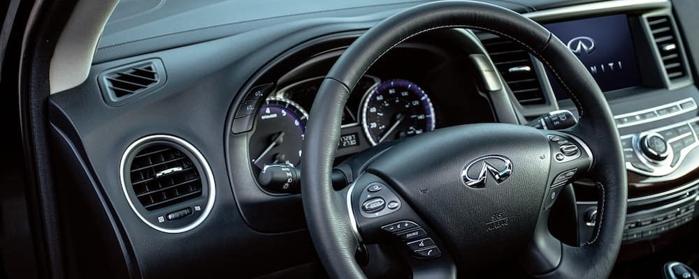 2020 INFINITI QX60 Front Interior and Steering Wheel