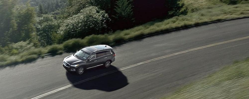 Silver 2019 INFINITI QX60 on Open Highway