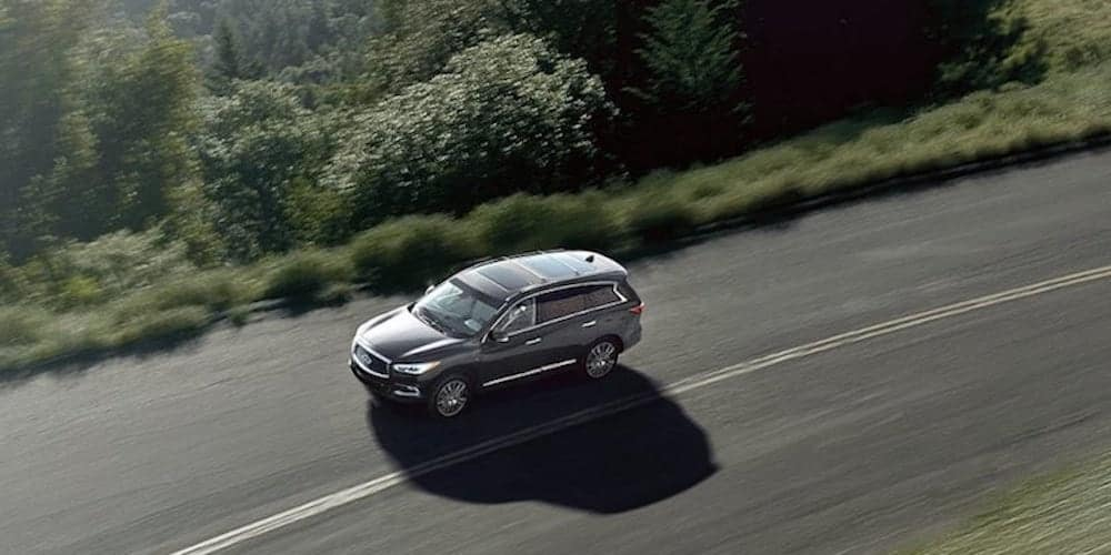 Silver 2019 INFINITI QX60 on Open Highway