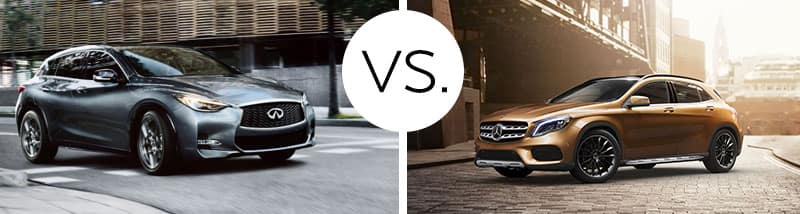 2018 INFINITI QX30 vs. 2018 Mercedes-Benz GLA