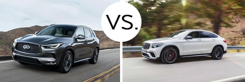 2018 INFINITI QX50 vs. 2018 Mercedes-Benz GLC