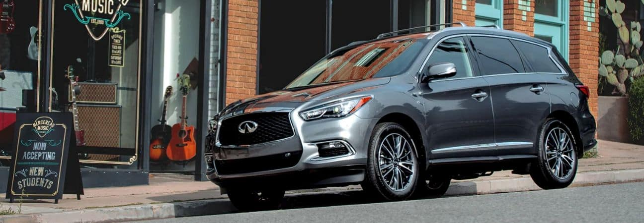 2020 INFINITI qx60 parked on a street