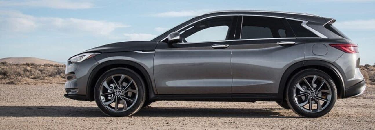 2020 INFINITI qx50 parked in the desert