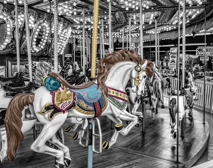 Seaside Carousel Horse