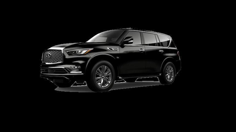 A black 2020 INFINITI QX80 Luxe