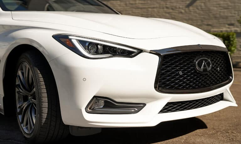 The front grille of a 2020 INFINITI Q60