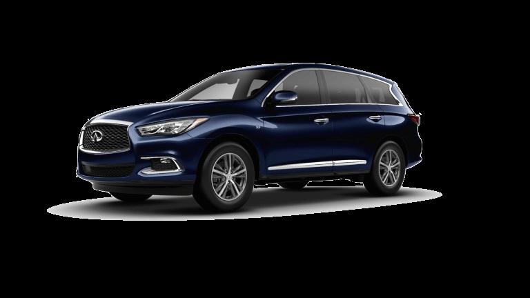 A blue 2020 INFINITI QX60 Pure