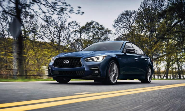 2021 INFINITI Q60 Exterior Driving Fast On Road