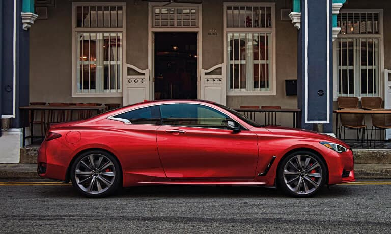 2021 INFINITI Q60 Exterior Outside By Restaurant