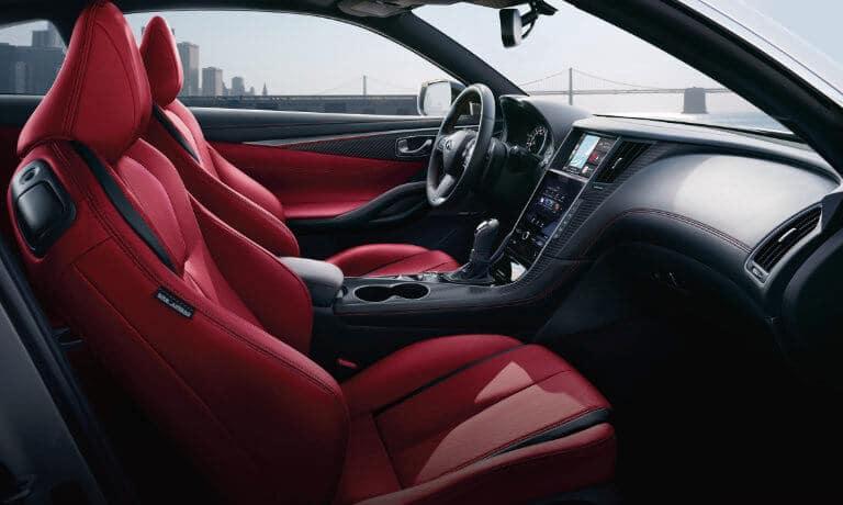 2020 INFINITI Q60 Interior Design - Red Seats
