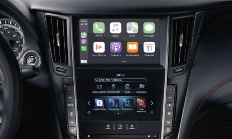 2021 INFINITI Q60 Technology Features - Interior Infotainment