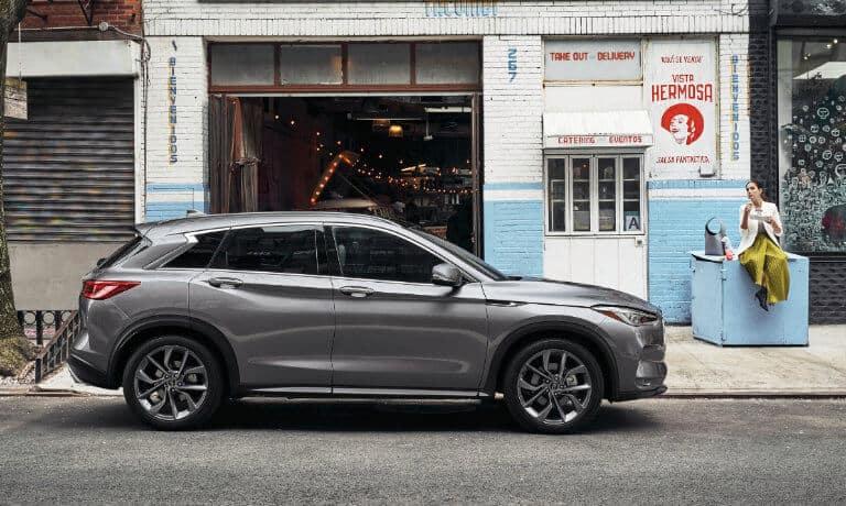2021 INFINITI QX50 exterior parked outside shop