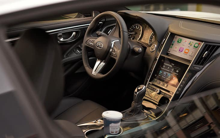 The infotainment system of the 2020 INFINITI Q50