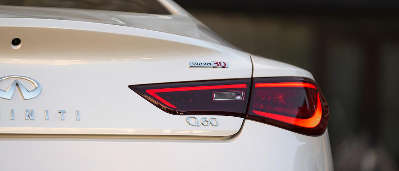 The back of a 2020 INFINITI Q60