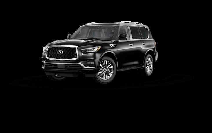 A silver 2020 INFINITI QX50 Luxe