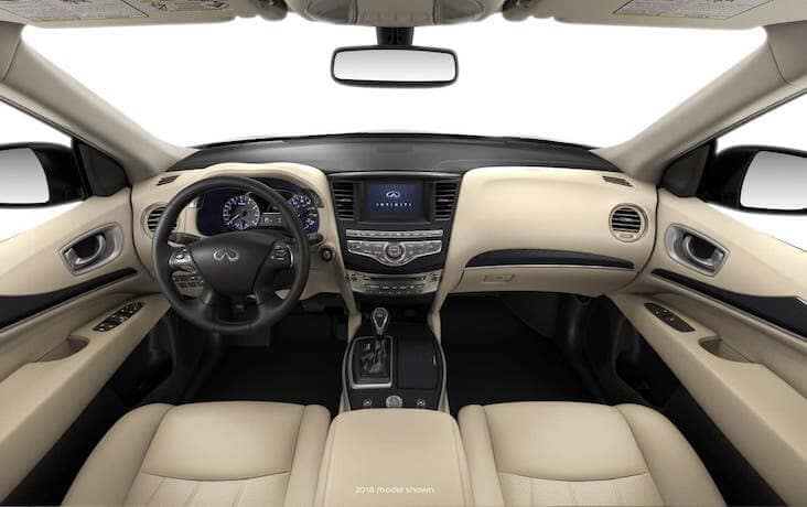 The dashboard of the 2020 INFINITI QX60
