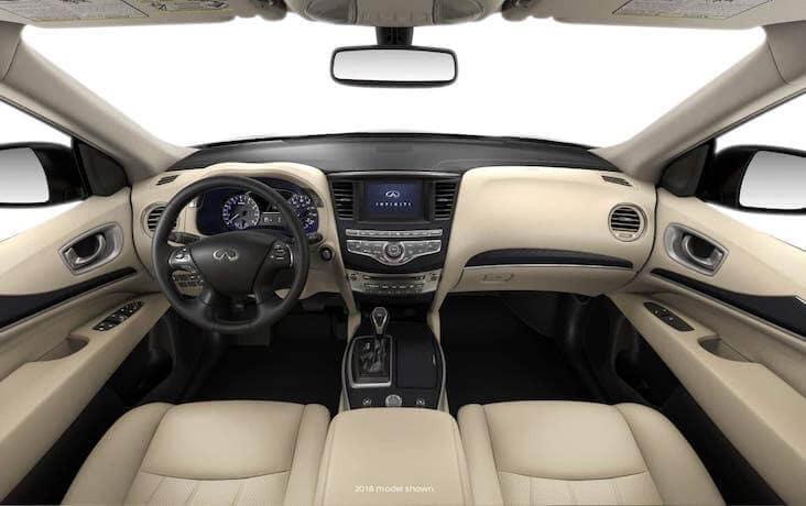 The dashboard of the 2020 INFINITI QX60