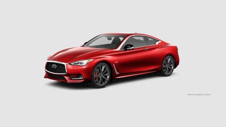 A red 2020 INFINITI Q60 Red Sport 400