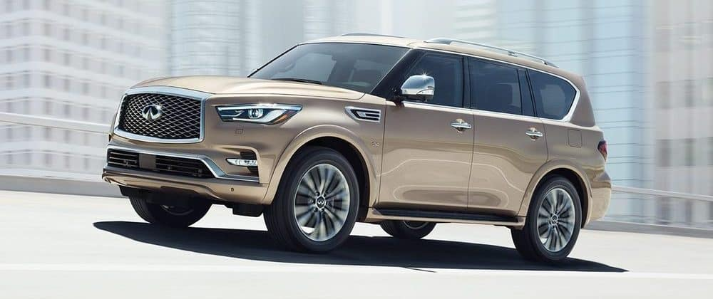 2019 INFINITI QX80 Gold Side View