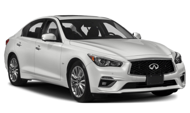 2019 INFINITI Q50 with White Exterior