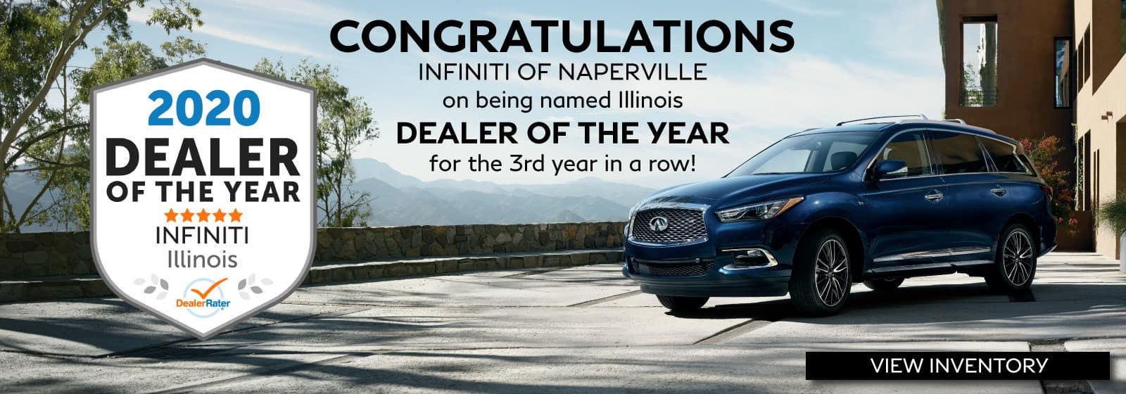INFINITI of Naperville: 2020 Dealer of the year Award