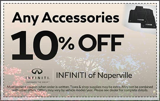 10% off Any INFINITI Accessories