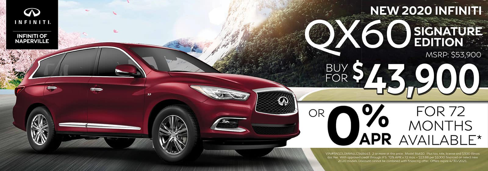 2020 INFINITI QX60 Buy or Lease Offer | INFINITI of Naperville