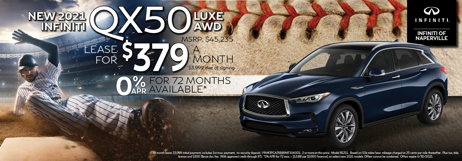 2021 QX50 Lease Offer | INFINITI of Naperville