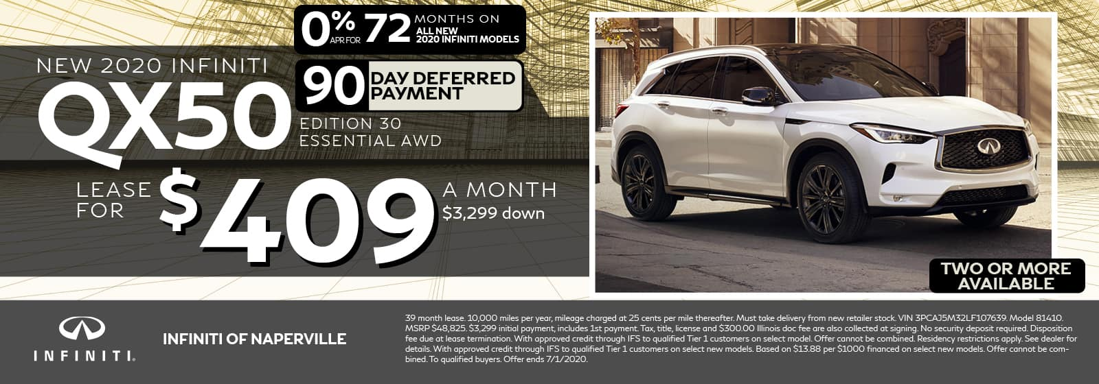 QX50 Lease Offer