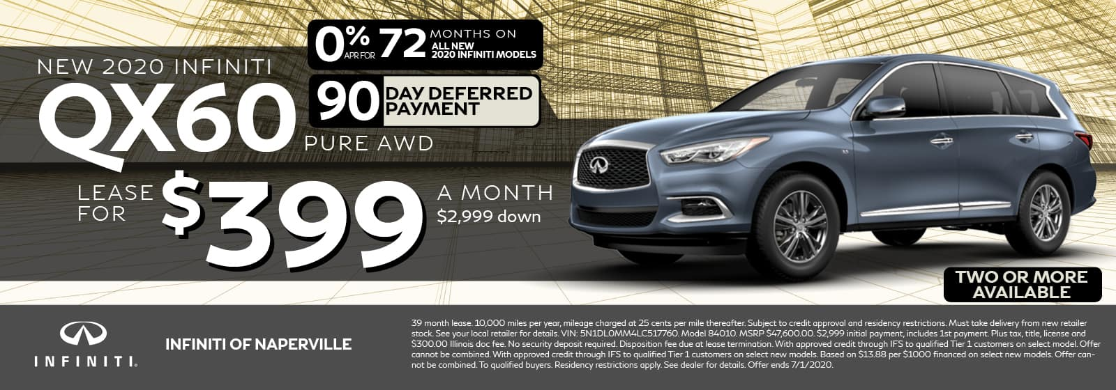 QX60 Lease Offer