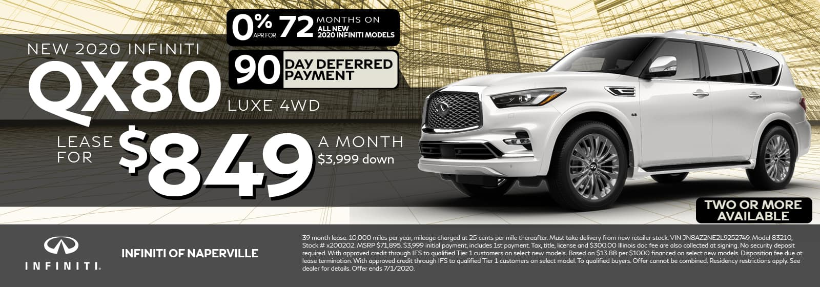 QX80 Lease Offer