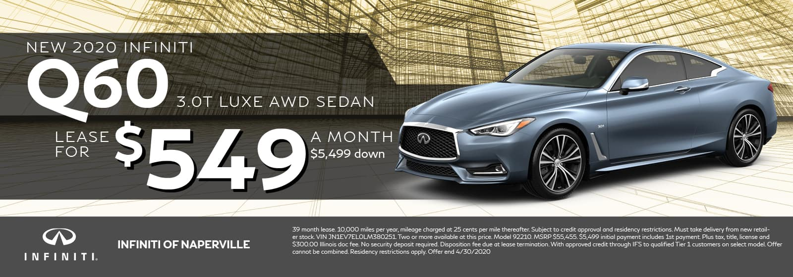 Q60 Lease Offer