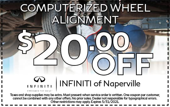 Wheel Alignment Special | INFINITI of Naperville