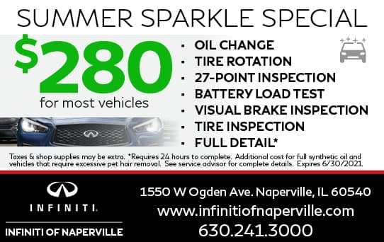 $280 Summer Sparkle Special   INFINITI of Naperville